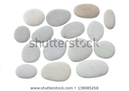 Zen taşlar yalıtılmış beyaz vücut sağlık Stok fotoğraf © natika