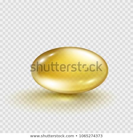 Máj olaj omega 3 gél kapszulák izolált Stock fotó © designsstock