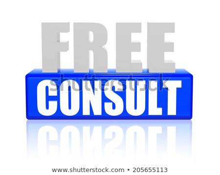 free consult in 3d letters and block Stock photo © marinini