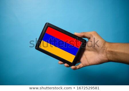 смартфон флаг Армения телефон интернет телефон Сток-фото © vepar5
