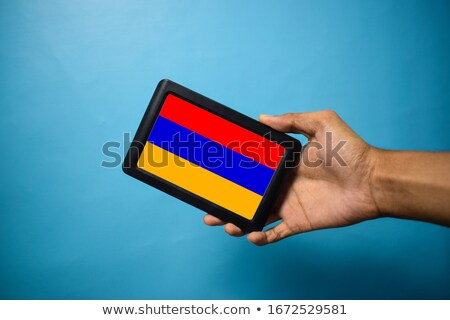 Bandeira Armênia telefone internet telefone Foto stock © vepar5