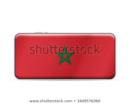 Bandera Marruecos teléfono teléfono signo Foto stock © vepar5