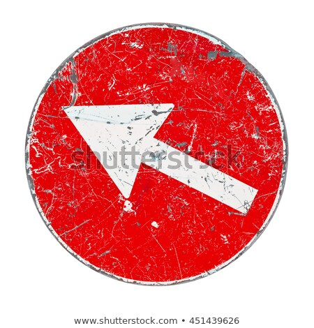 Simplicity on Red Road Sign. Stock photo © tashatuvango
