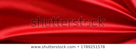 red satinsilk fabric stock photo © supertrooper