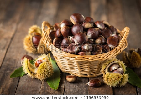 Chestnuts in the basket Stock photo © adrenalina