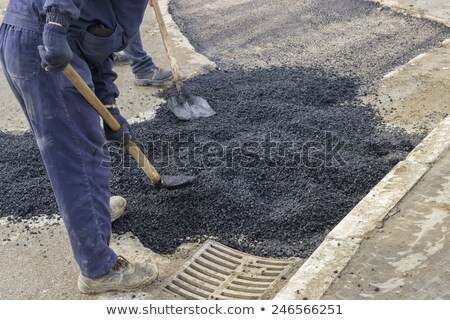 pothole patch stock photo © hlehnerer