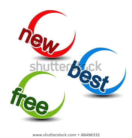 Novo chegada azul vetor botão Foto stock © rizwanali3d