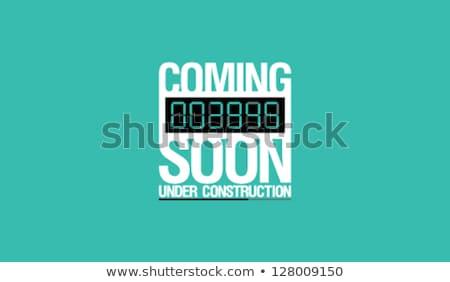 under construction green vector icon button stock photo © rizwanali3d