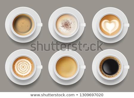 Csésze finom kávé szív tej kávézó Stock fotó © ElinaManninen