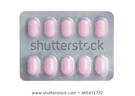 Finestra bianco pillole pack isolato Foto d'archivio © ironstealth