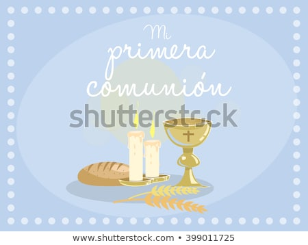 First Communion  reminder card for boy Stock photo © marimorena