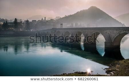 Old Stone Bridge in Winter stock photo © mpetersheim