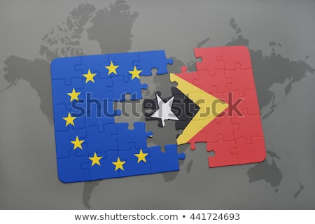 European Union and East Timor Flags in puzzle Stock photo © Istanbul2009