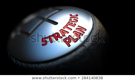 Strategic Plan on Gear Shift. Stock photo © tashatuvango