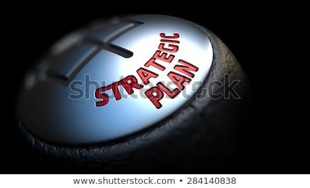 ストックフォト: 戦略計画 · ギア · シフト · 赤 · 文字 · 黒