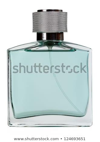 Perfum piękna niebieski butelki odizolowany biały Zdjęcia stock © tetkoren