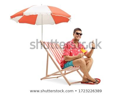 Lege water zonnige zomer hemel familie Stockfoto © Klinker