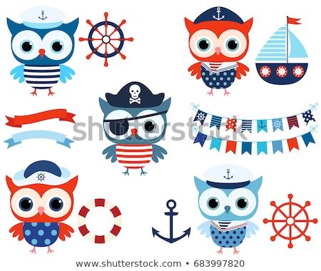 Pirate Owl Stockfoto © Pravokrugulnik