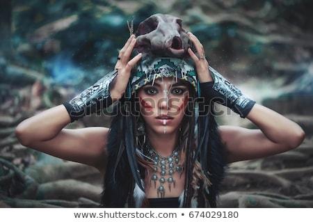 primitive girl Stock photo © adrenalina