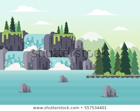 Flat Rock Cascade in the Forest Stock photo © wildnerdpix