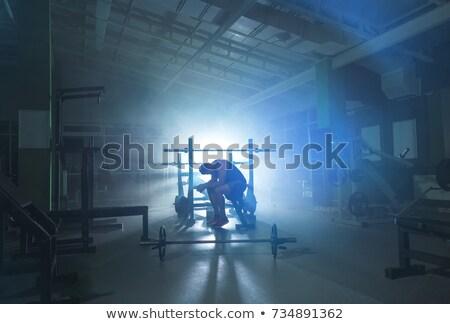 Gym blue smoke Stock photo © alphaspirit