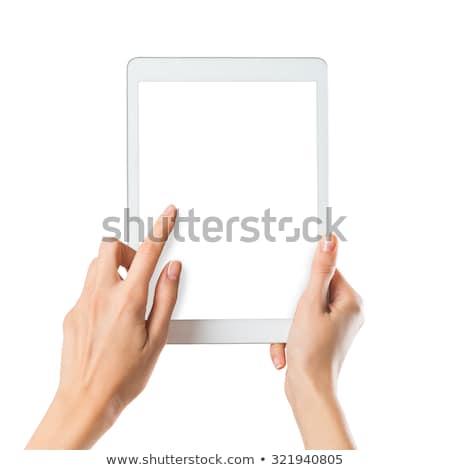 Mão comprimido isolado branco fundo assinar Foto stock © tetkoren