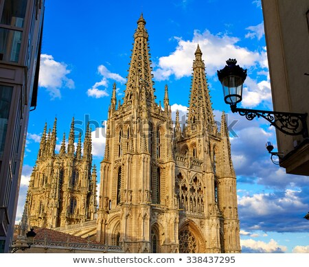Burgos to Pilgrim in Cathedral Saint James Way Stock photo © lunamarina