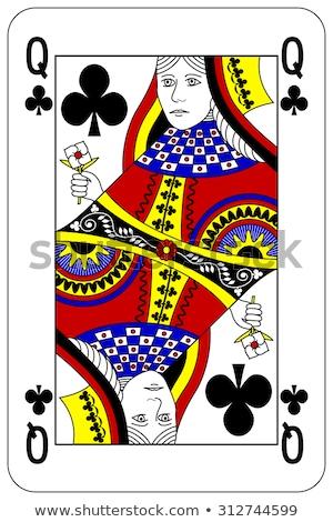 クイーン 演奏 カード 赤 カード 図面 ストックフォト © Bigalbaloo