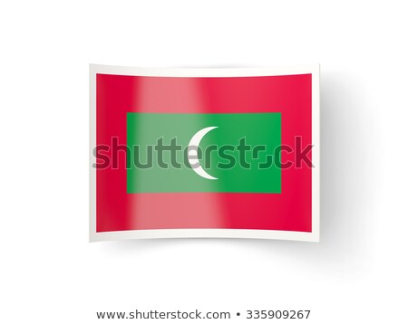 Icona bandiera Maldive isolato bianco paese Foto d'archivio © MikhailMishchenko