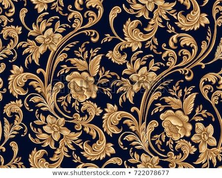 золото · дамаст · шаблон · Vintage · цветочный · орнамент - Сток-фото © liliwhite