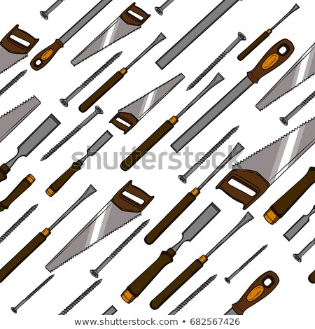 Pattern from various Carpentry, woodworker, joinery tools Stock photo © netkov1