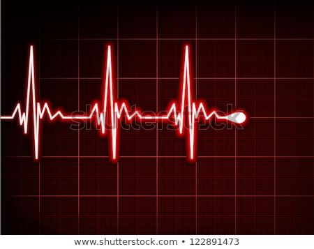 Grafiek hartslag hart eps illustratie vector Stockfoto © beholdereye
