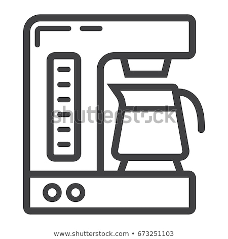 coffee maker line icon stock photo © rastudio