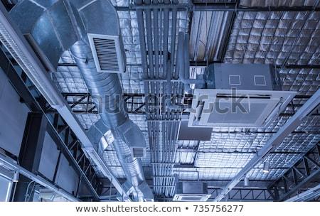 aire · acondicionado · filtrar · techo · moderna · casa - foto stock © simpson33