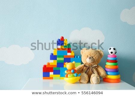 Blauw · kamer · speelgoed · muren · vloer · home - stockfoto © saharosa