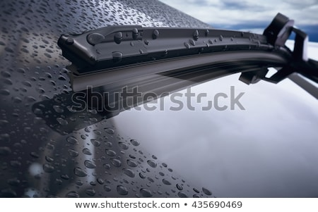 Chuva gotas pára-brisas quadro carro interior Foto stock © ssuaphoto