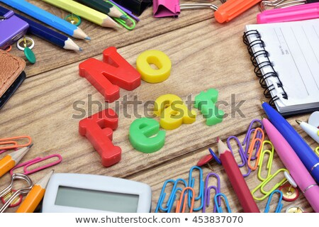 No fear word and office tools on wooden table Stock photo © fuzzbones0