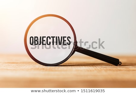 Objectives on wooden table Stock photo © fuzzbones0