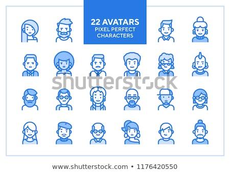 Férfi hipszter avatar felhasználó kép rajzfilmfigura Stock fotó © vector1st