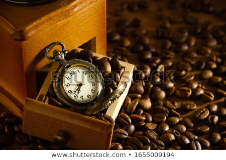 Stock photo: Old pocket watch on metal tray