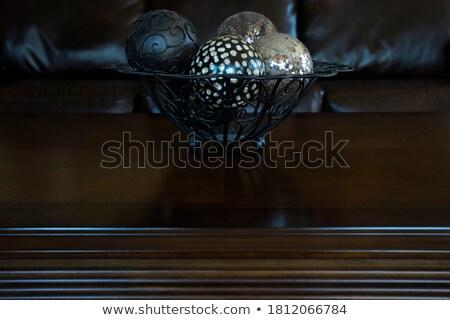 Kahve renkli küre crystal ball eğim oda Stok fotoğraf © ralanscott