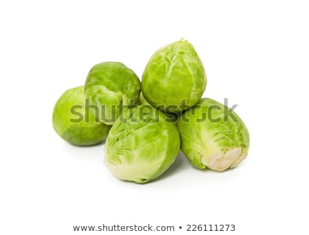Heap of green fresh brussels sprouts in water Stock photo © deandrobot