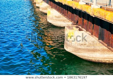 Playa concretas protección inundación arena Foto stock © Klinker