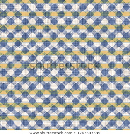 Checkered blue and yellow fabric texture Stock photo © stevanovicigor