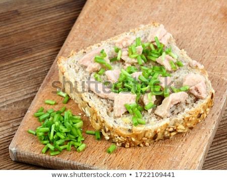 Rebanada pan hígado crujiente baguette pollo Foto stock © Digifoodstock