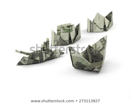 Schip origami bankbiljetten geld business bank Stockfoto © butenkow