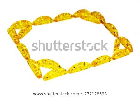 Rectangular Frame gems Precious stones. Treasures background. Ru Stock photo © popaukropa
