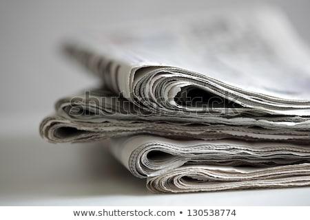 Gevouwen krant dagelijks papier tabel Stockfoto © stevanovicigor