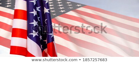 Stock photo: 4th of July hanging banner sign concept