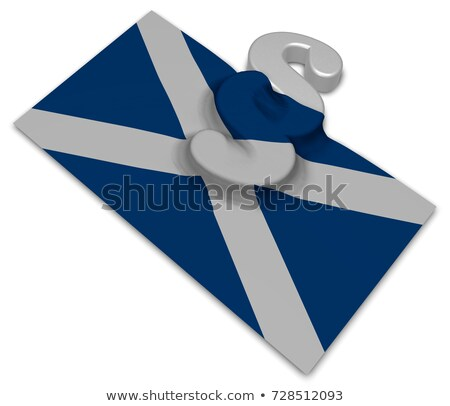 paragraph symbol and flag of scotland   3d rendering stock photo © drizzd